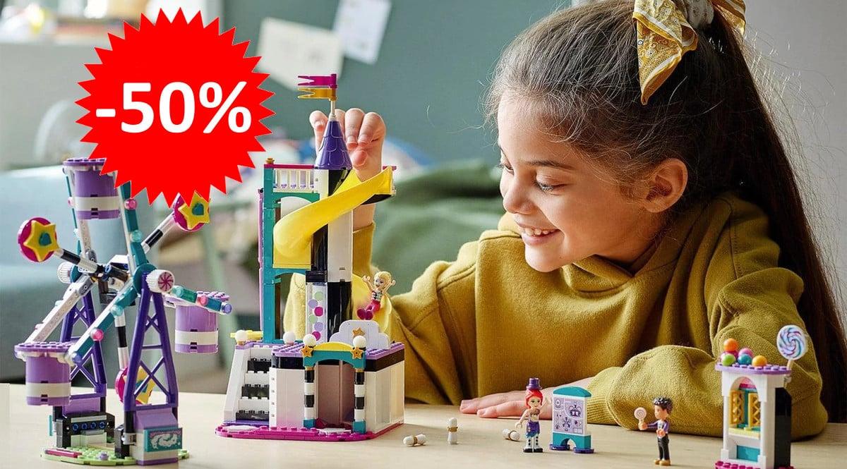 ¡¡Chollo!! LEGO Friends – Mundo de Magia: Noria y Tobogán sólo 32 euros. 50% de descuento.