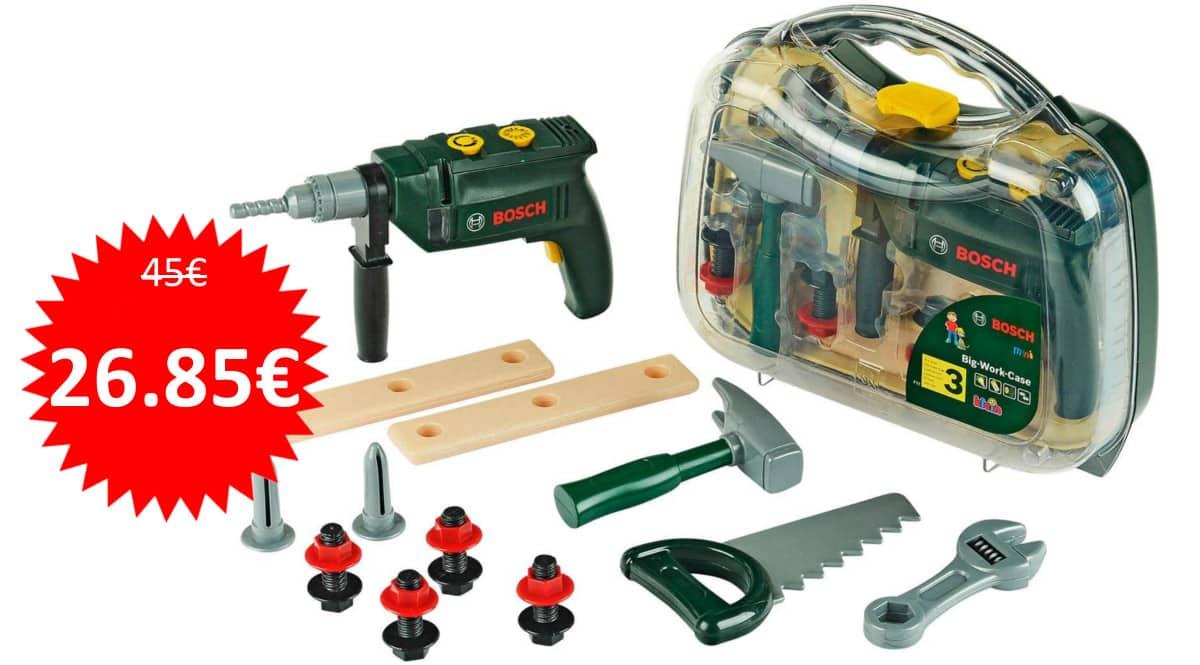 Maletín de herramientas Bosch de juguete Theo Klein barato. Ofertas en juguetes, juguetes baratos, chollo
