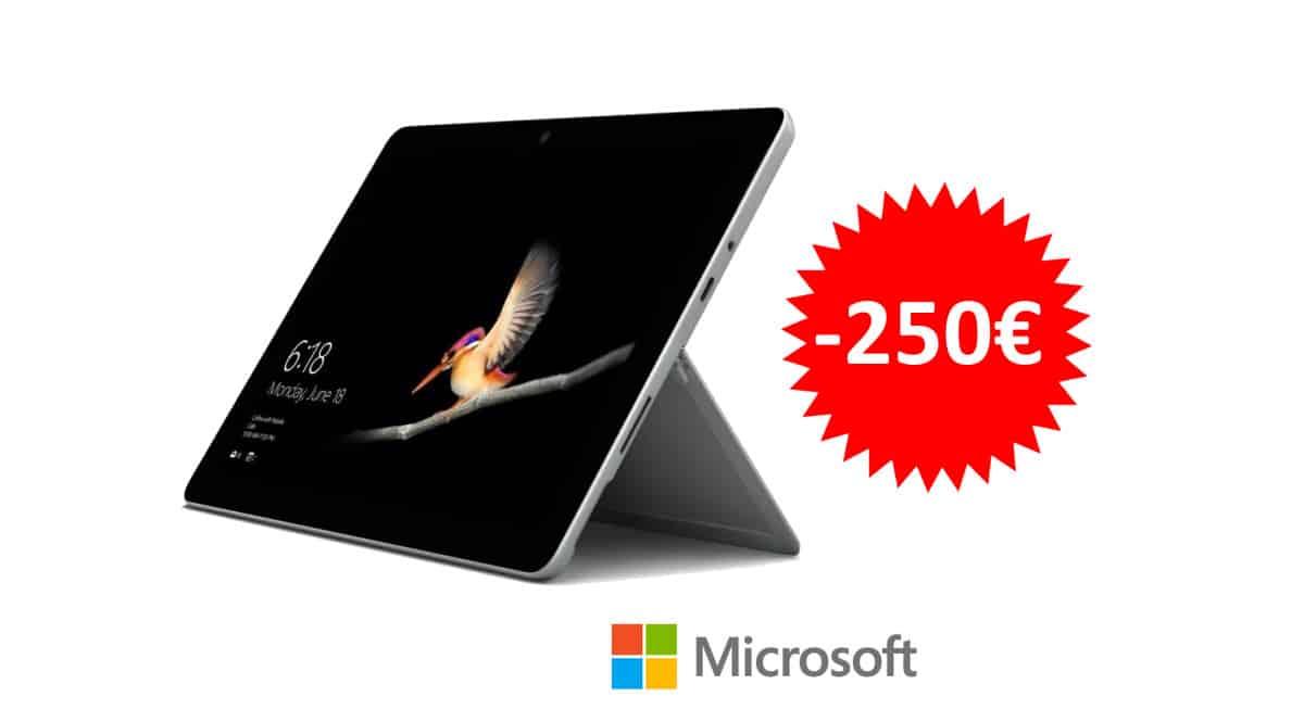 ¡Código descuento! Microsoft Surface Go 2 10.5″ Intel Pentium Gold 4425Y/8GB/128GB sólo 349 euros. Te ahorras 250 euros.