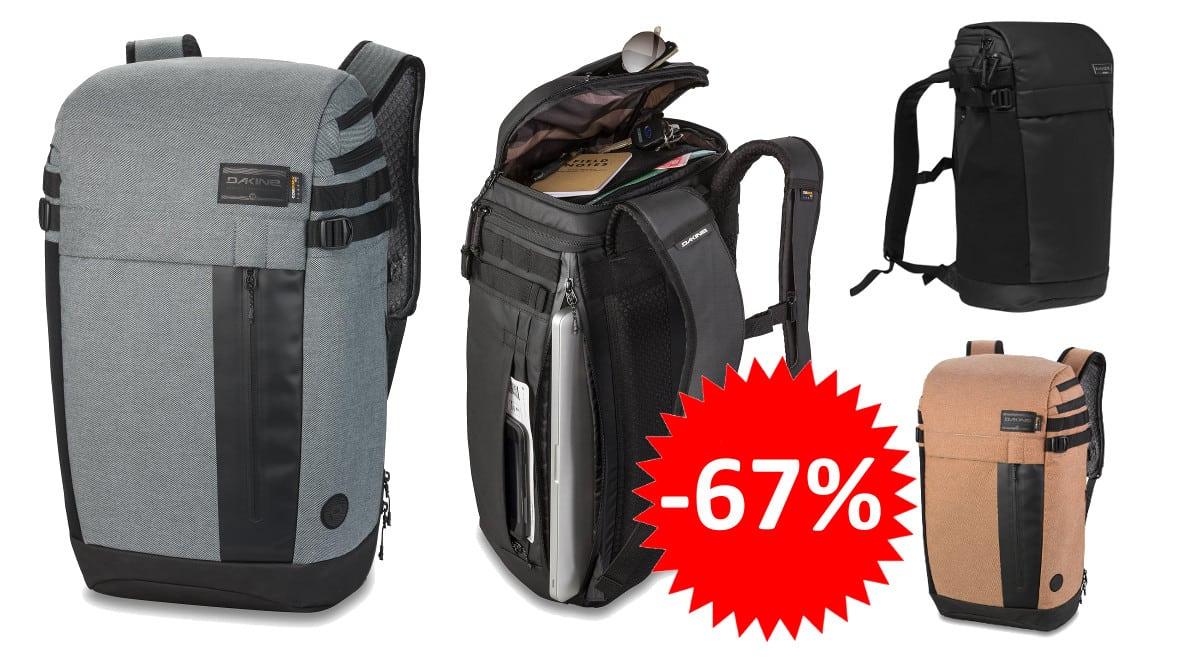 ¡¡Chollo!! Mochila Dakine Concourse 30L sólo 44 euros. 67% de descuento. 3 modelos distintos.