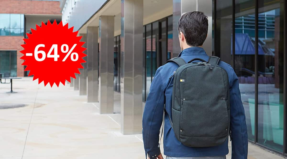 ¡Precio mínimo histórico! Mochila para portátiles Case Logic Huxton sólo 24.90 euros. 64% de descuento.