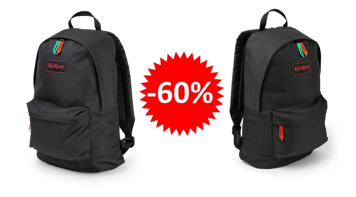 ¡Precio mínimo histórico! Mochila unisex Kickers Canvas Backpack sólo 9.39 euros. 60% de descuento.