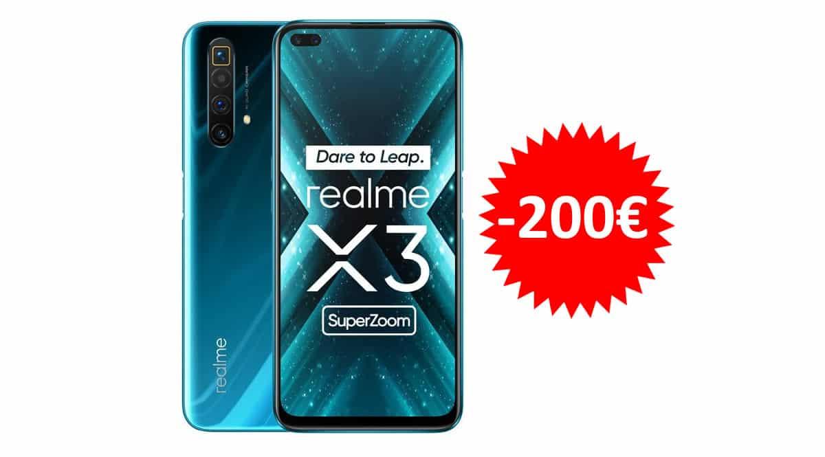 ¡¡Chollo!! Móvil Realme X3 SuperZoom 6.6″ 12GB/256GB sólo 298 euros. Te ahorras 200 euros.