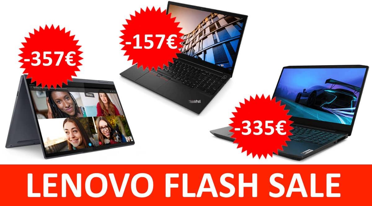 Ofertas de la Flash Sale de Lenovo. Ofertas en portatiles, portatiles baratos,chollo