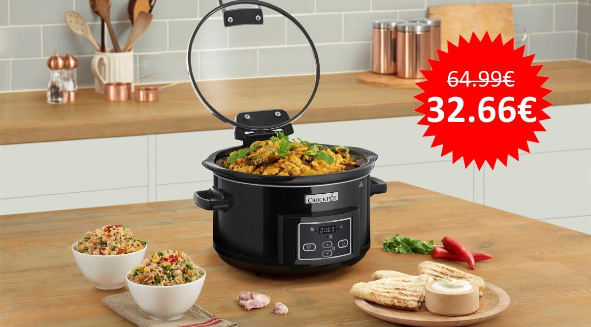 ¡Precio mínimo histórico! Olla de cocción lenta Crock-Pot CSC052X-01 sólo 32 euros. Mitad de precio.