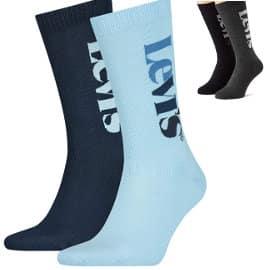 Pack de 2 pares de calcetines Levi's Vertical Logo Regular baratos, calcetines de marca baratos, ofertas en ropa