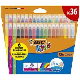 ¡¡Chollo!! Pack de 36 rotuladores BIC Kids Kid Couleur sólo 6.49 euros.
