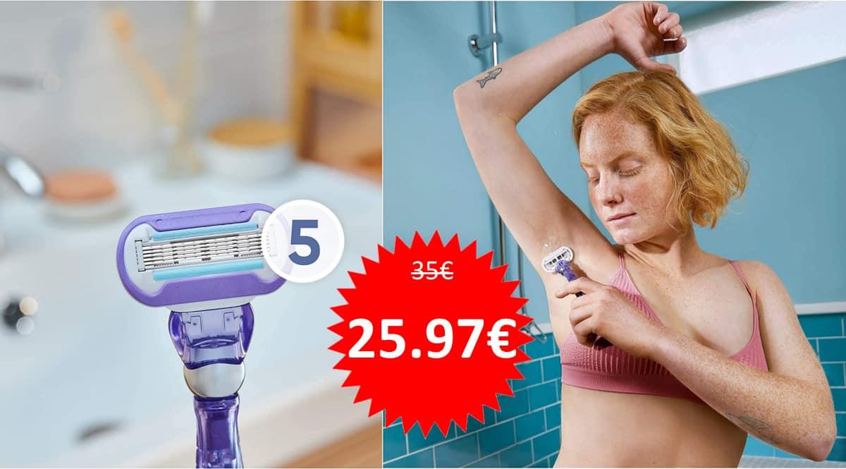 Pack maquinilla Gillette Venus Deluxe Smooth con 6 recambios barato. Ofertas en maquinillas Gillette, maquinillas Gillette baratas, chollo