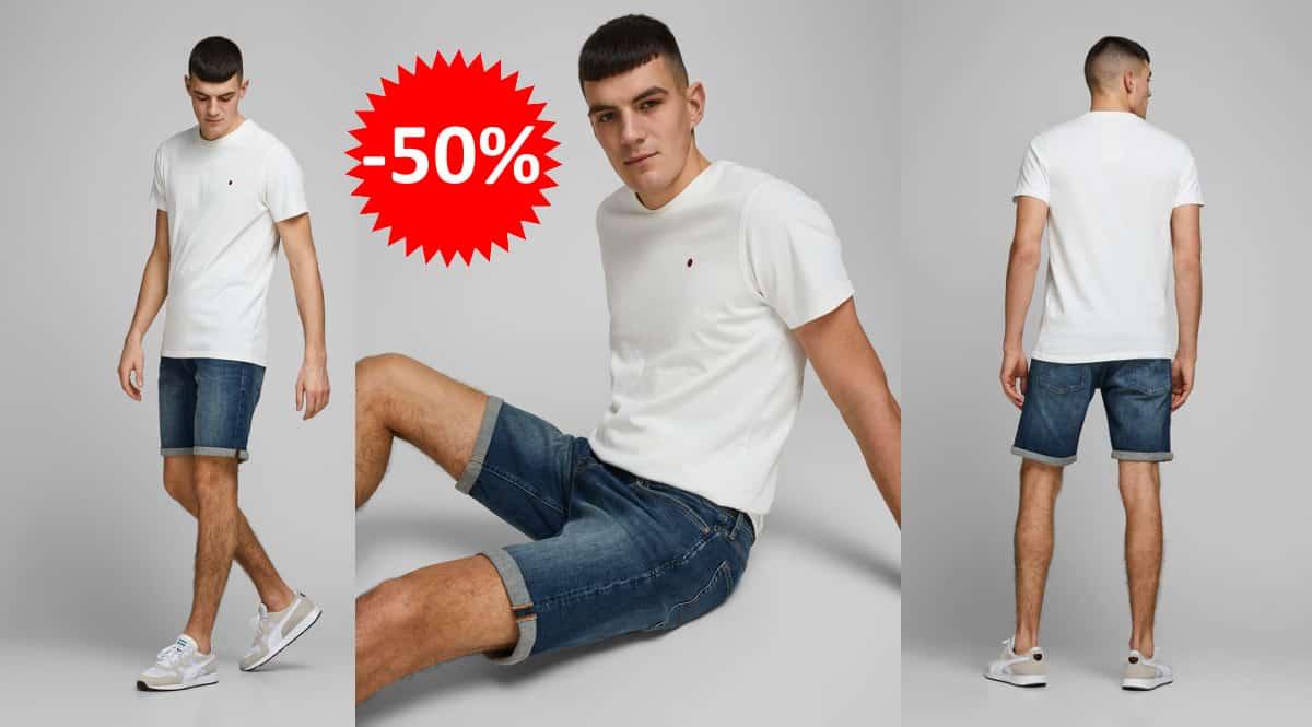 Pantalón corto Jack & Jones Rick Original Agi 005 barato, pantalones cortos de marca baratos, ofertas en ropa, chollo