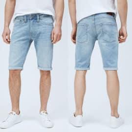 Pantalon corto Pepe Jeans Denim Cash barato, ropa de marca barata, ofertas en pantalones