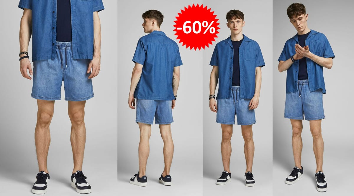 Pantalones cortos Jack & Jones Jogger AKM 25 baratos, ropa de marca barata, ofertas en bermudas chollo