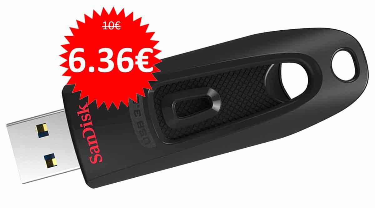 Pendrive SanDisk Ultra 64GB barato. Ofertas en pendrives, pendrives baratos,chollo