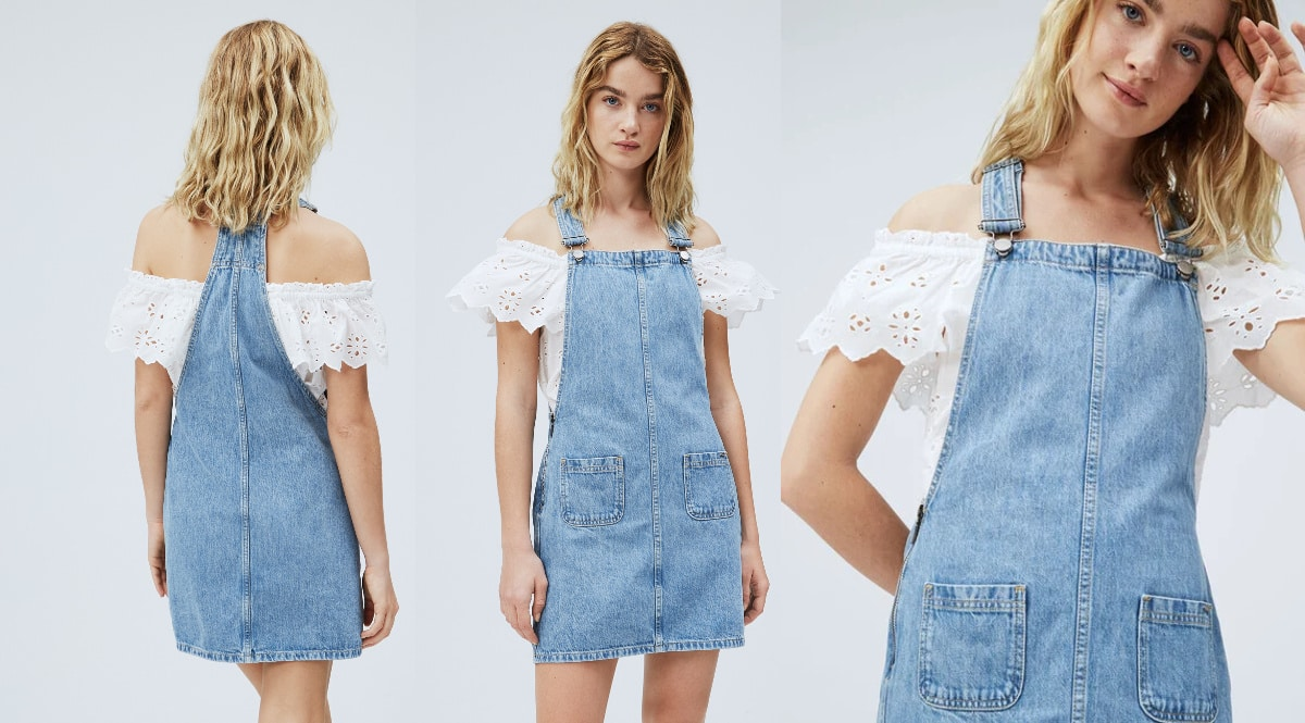Peto vaquero Pepe Jeans Vesta barato, ropa de marca barata, ofertas en petos chollo