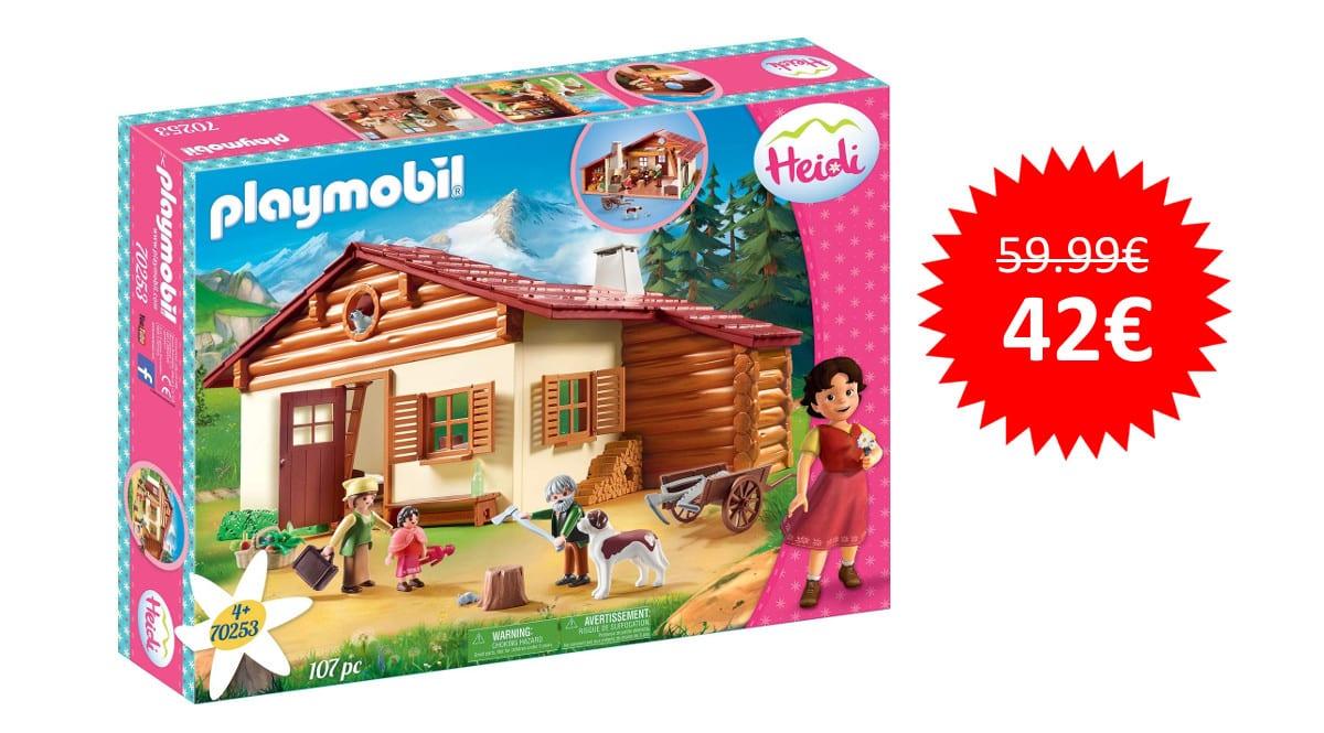 ¡¡Chollo!! Playmobil Heidi en la Cabaña de los Alpes sólo 42 euros.
