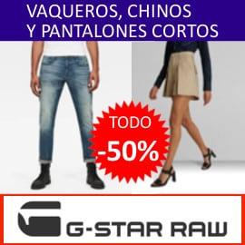 Rebajas G-Star RAW Vaqueros, pantalones cortos y chinos baratos. Ofertas en ropa de marca, ropa de marca barata
