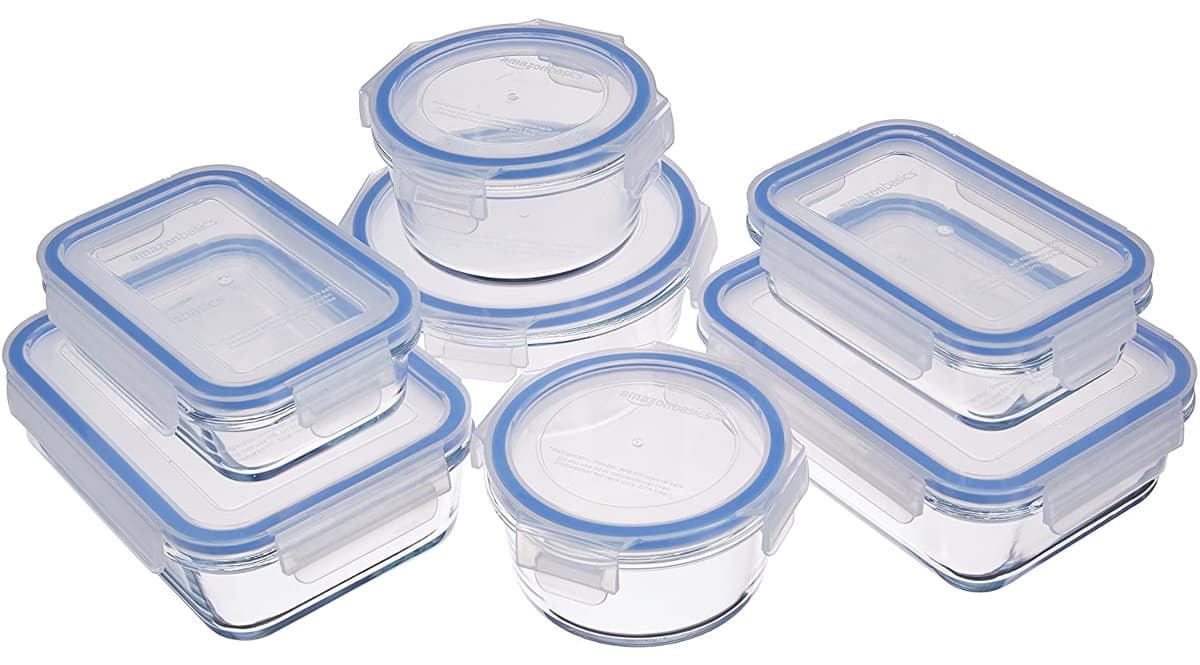 ¡Precio mínimo histórico! Pack de 7 recipientes de cocina de cristal y herméticos Amazon Basics sólo 14.52 euros. Mitad de precio.