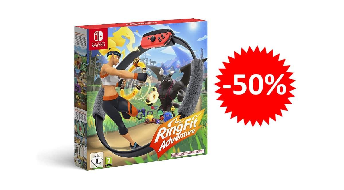 ¡¡Chollo!! Ring Fit Adventure de Nintendo Switch sólo 39.99 euros. 50% de descuento.