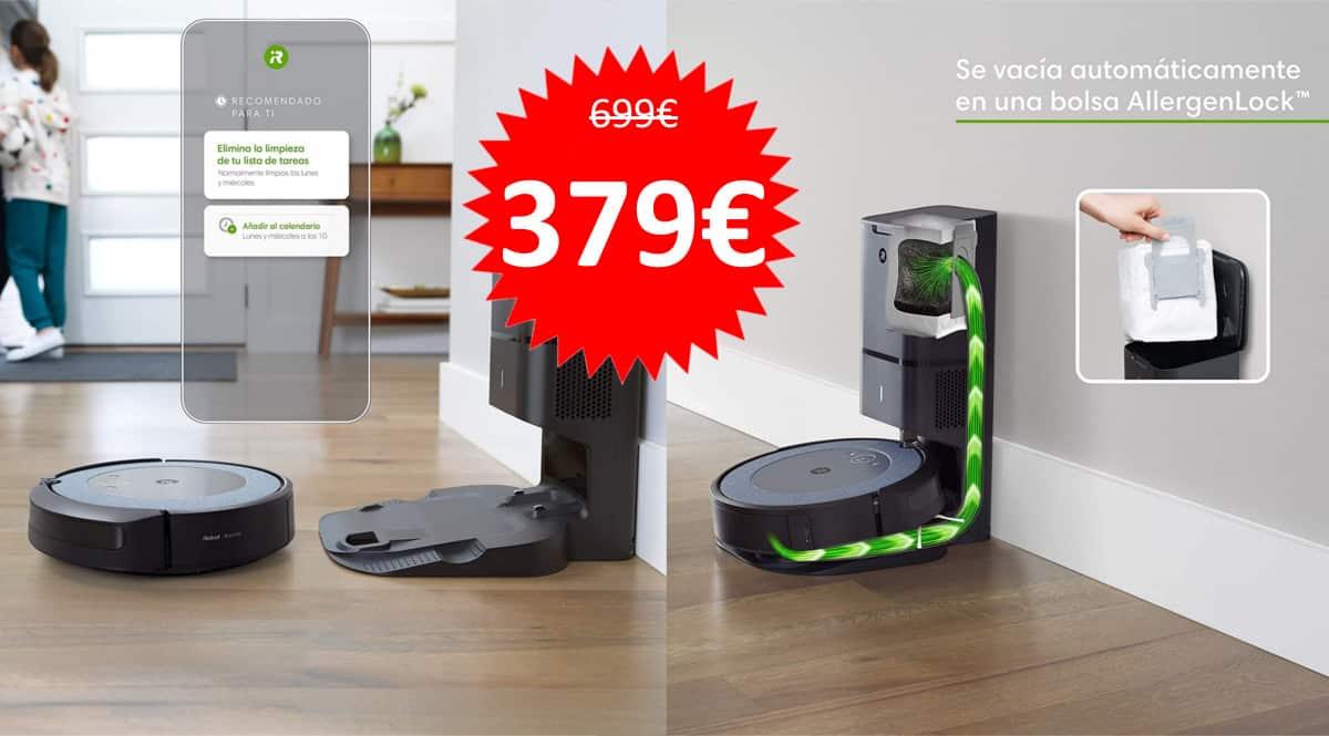 Robot aspirador iRobot Roomba i3552 barato. Ofertas en Roombas, Roombas baratas, chollo