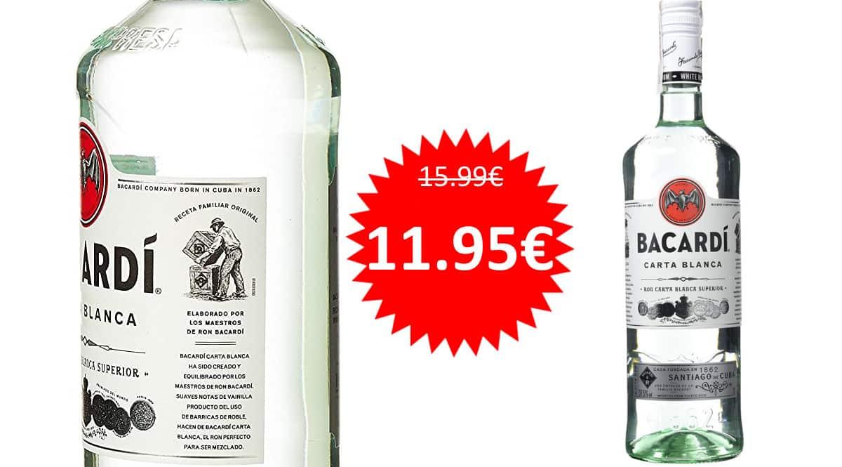 Ron blanco Bacardí Carta Blanca 1 L barato. Ofertas en bebidas premium, bebidas premium baratas, chollo