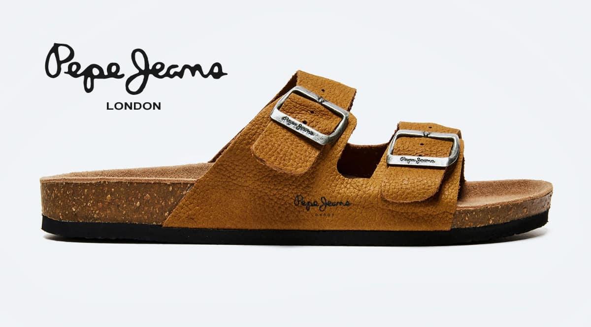 Sandalias Pepe Jeans Bio Buckles Nubuck baratas, calzado de marca barato, ofertas en sandalias chollo