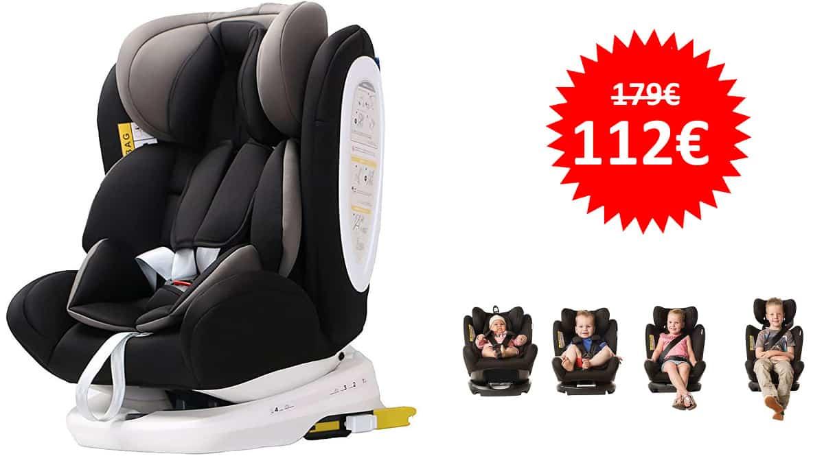 Silla de Coche Travel Isofix Star Ibaby Grupo 0-3 barata, sillas de coche de marca baratas, ofertas bebé, chollo