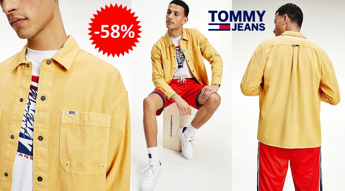 Sobrecamisa Tommy Jeans barata, ropa de marca barata, ofertas en ropa chollo