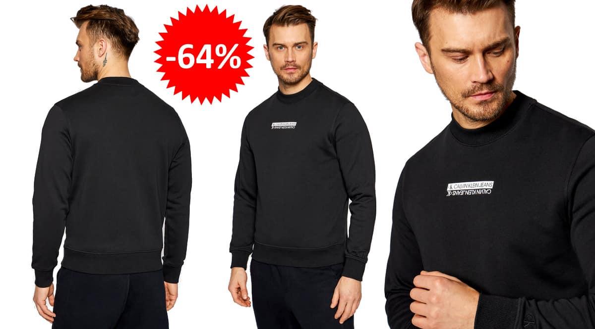 Sudadera Calvin Klein Micro Mirrored barata, ropa de marca barata, ofertas en sudaderas chollo