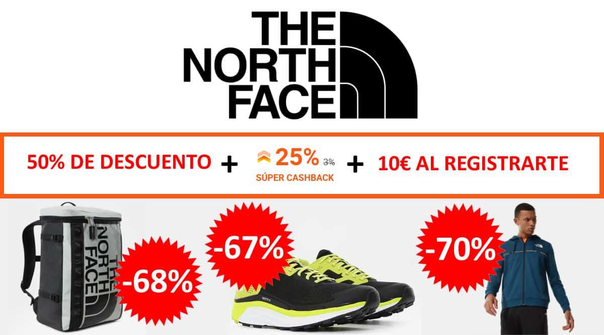 Súper Cashback rebajas The North Face. Ofertas en ropa de marca, ropa de marca barata, chollo
