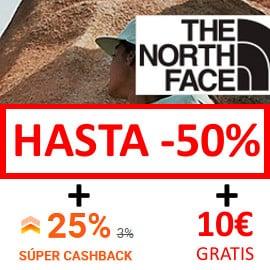 Súper Cashback rebajas The North Face. Ofertas en ropa de marca, ropa de marca barata