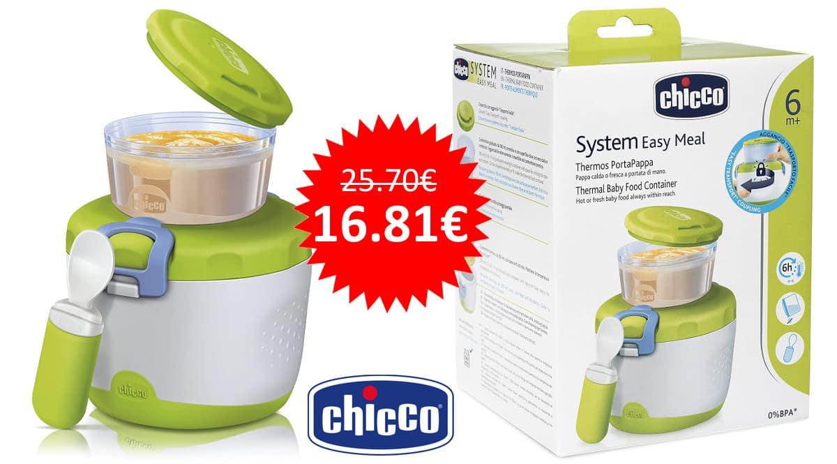 ¡¡Chollo!! Termo para la papilla Chicco Easy Meal sólo 16.81 euros.
