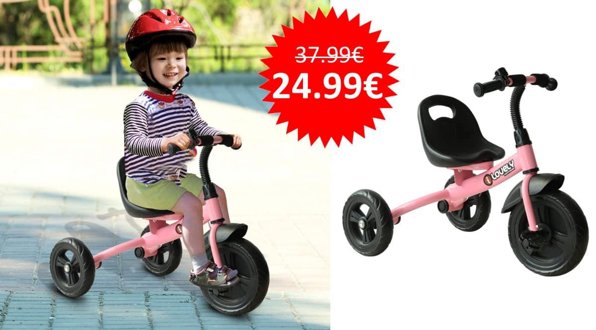 ¡¡Chollo!! Triciclo HOMCOM para niños de más de 18 meses sólo 24.99 euros.