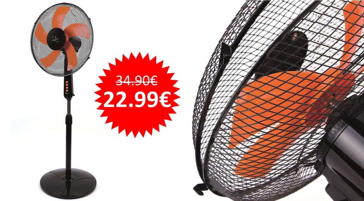 ¡Precio mínimo histórico! Ventilador de pie Jata VP3035 sólo 22.99 euros.