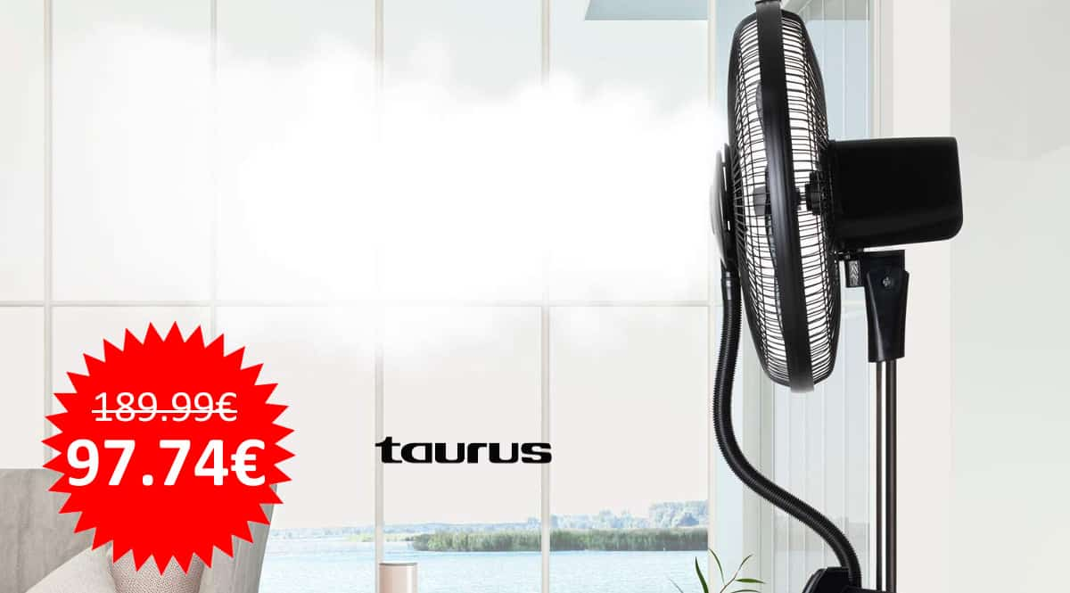 ¡Chollo reacondicionado! Ventilador de pie con nebulizador Taurus MF4000 sólo 97 euros. Te ahorras 92 euros.
