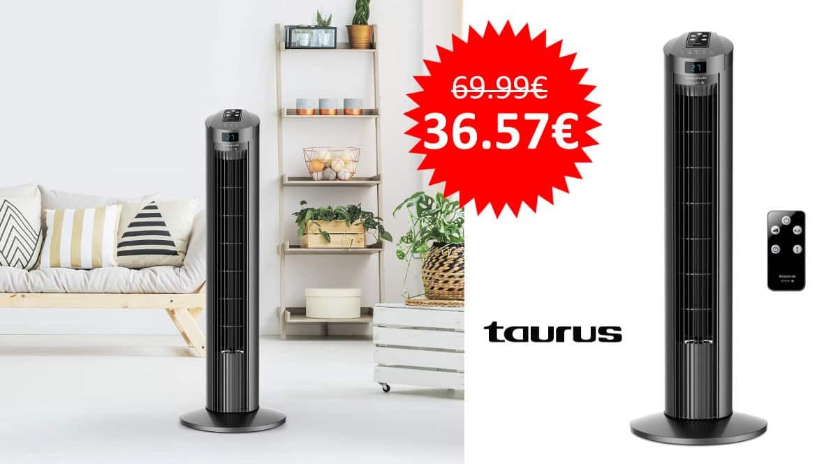 ¡Precio mínimo histórico! Ventilador de torre digital Taurus Babel RC II sólo 36 euros. Mitad de precio.