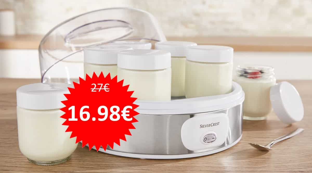 Yogurtera Silvercrest con 7 botes barata. Ofertas en Lidl, ofertas en yogurteras, yogurteras baratas,chollo