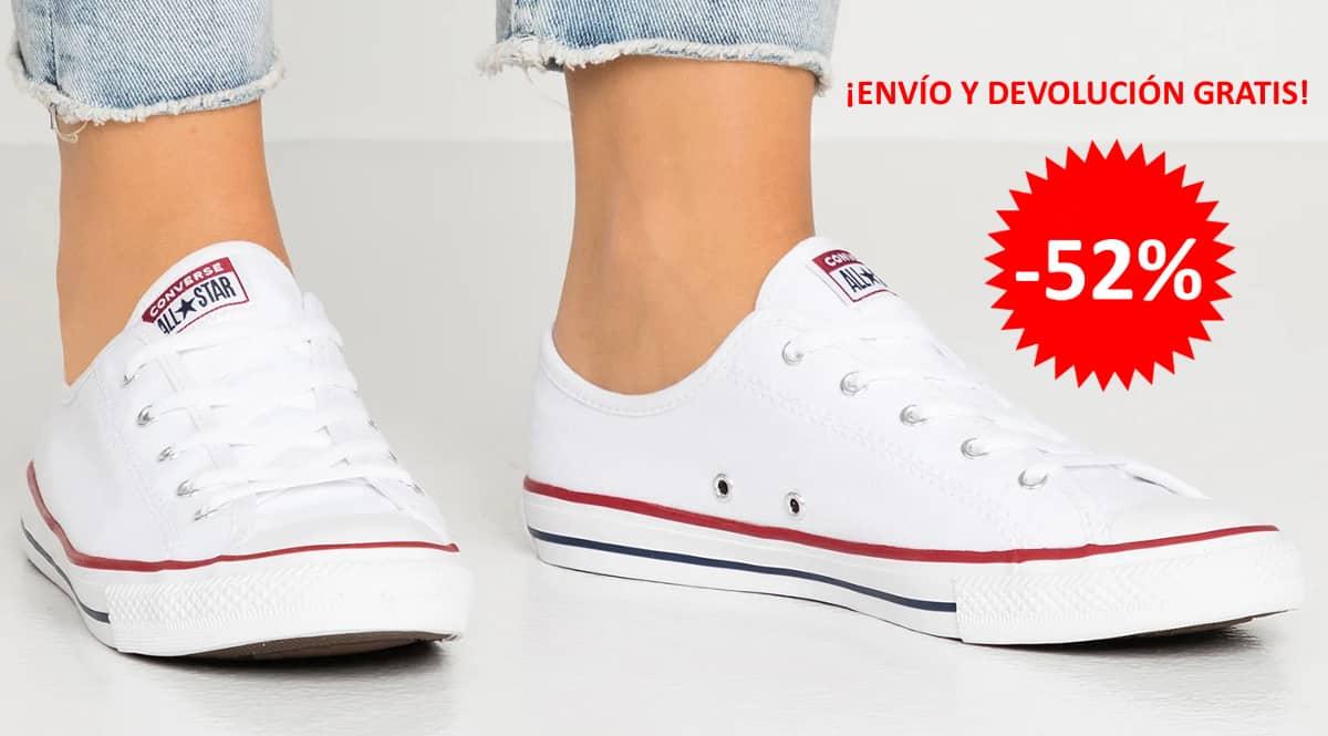 Zapatillas Converse Chuck Taylor All Star Dainty baratas, calzado de marca barato, ofertas en zapatillas chollo1