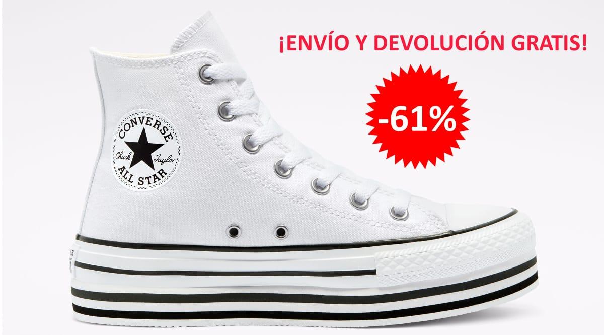 Zapatillas Converse Chuck Taylor All Star Platform baratas, calzado de marca barato, ofertas en zapatillas chollo