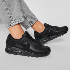 Zapatillas Nike Air Max 90 negras baratas, calzado de marca barato, ofertas en zapatillas