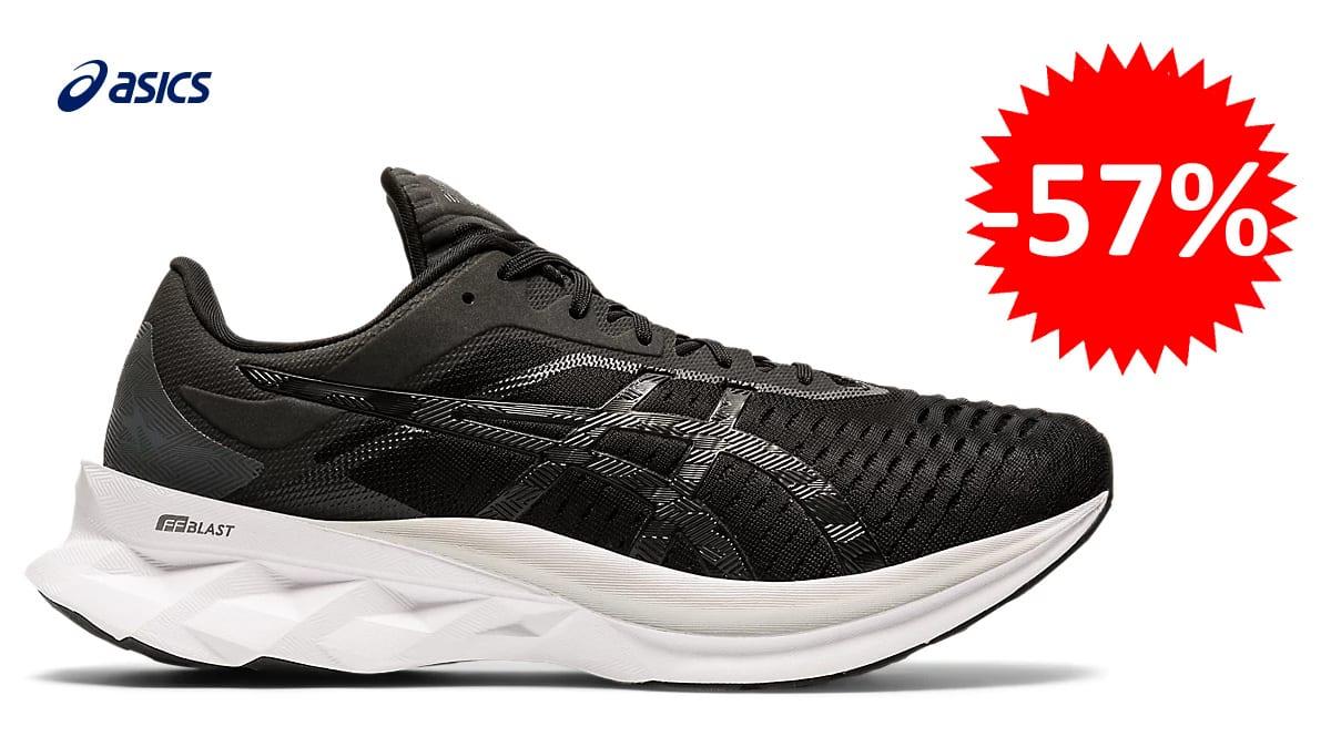 Zapatillas de running neutras Asics Novablast baratas, zapatillas para correr de marca baratas, ofertas calzado, chollo