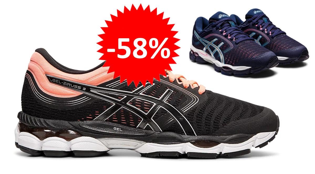 Zapatillas de running para mujer Asics Gel-Ziruss 3 baratas. Ofertas en zapatillas de running, zapatillas de running baratas, chollo
