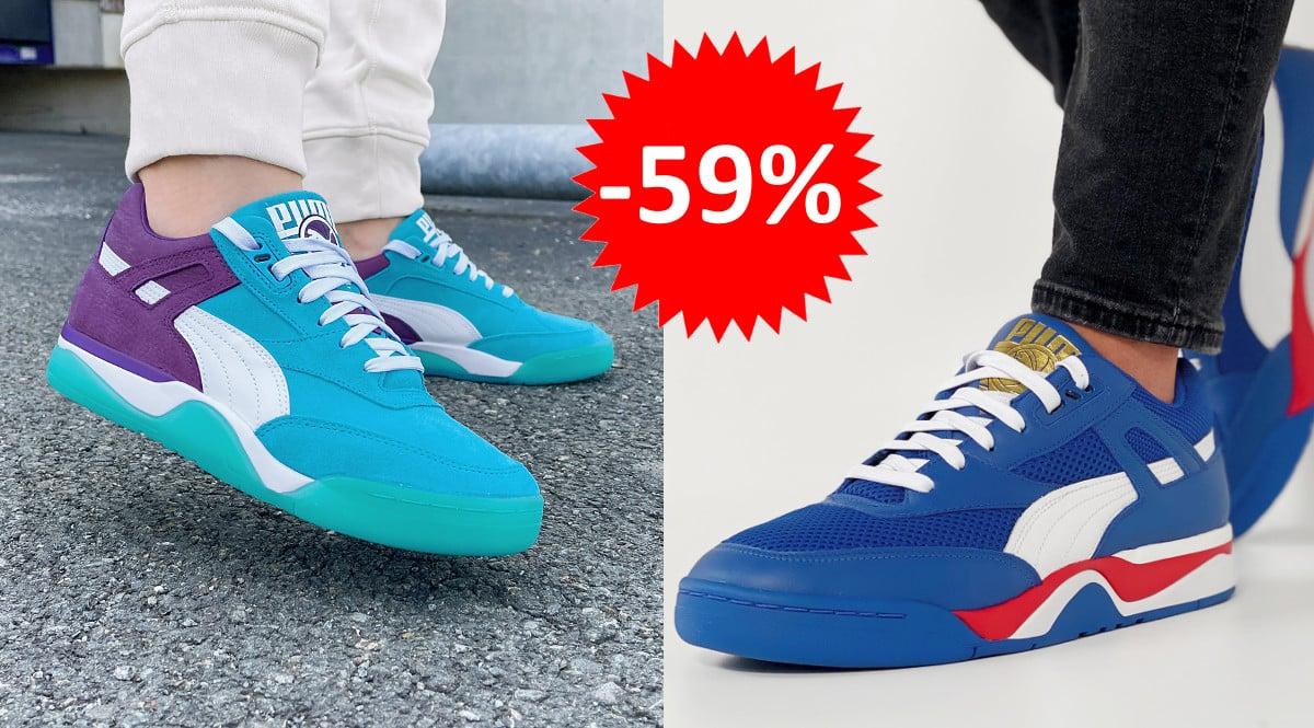 ¡¡Chollo!! Zapatillas para hombre Puma Palace Guard Queen City sólo 45 euros. 59% de descuento. En azul claro y azul oscuro.