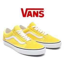 Zapatillas unisex Vans Old Skool amarillas baratas, calzado de marca barato, ofertas en zapatillas