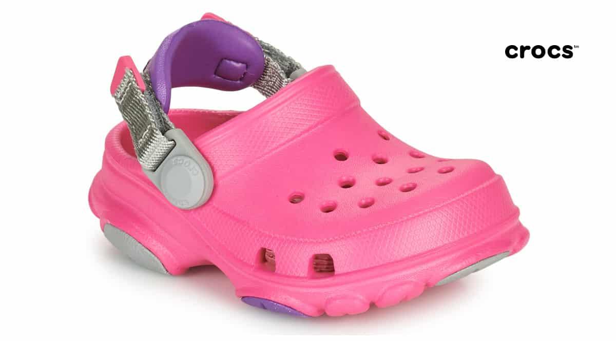 Zuecos para niña Crocs Classic All Terrain Clog baratos, zuecos de marca baratos, ofertas en calzado para niños, chollo