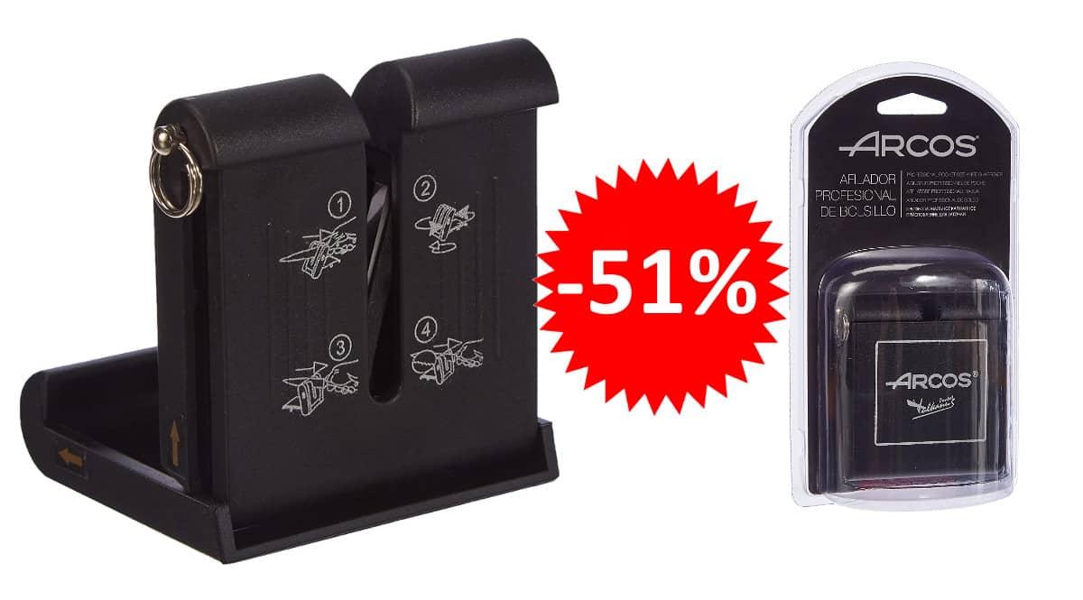 ¡¡Chollo!! Afilador de cuchillos profesional de bolsillo Arcos sólo 22 euros. 51% de descuento.