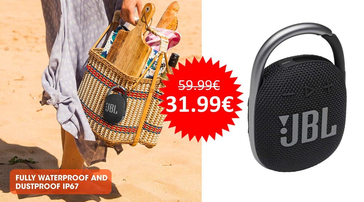 ¡Precio mínimo histórico! Altavoz Bluetooth JBL Clip 4 sólo 31.99 euros.