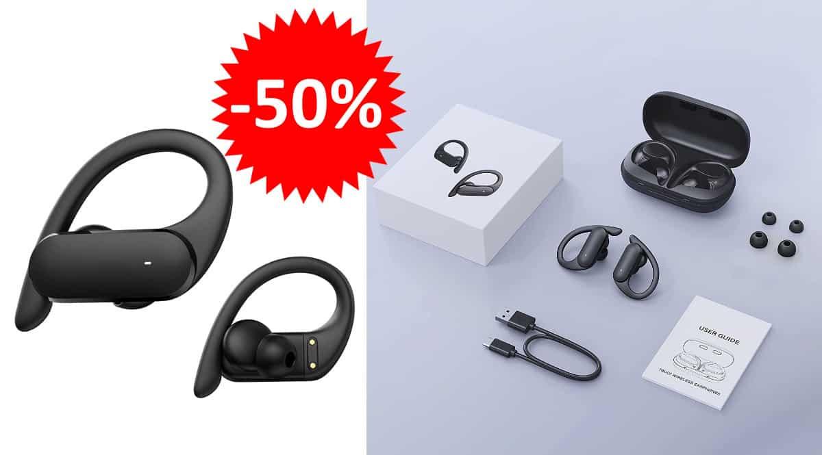 ¡Código descuento exclusivo! Auriculares deportivos HolyHigh Bluetooth AEA03 sólo 12.99 euros. 50% de descuento.