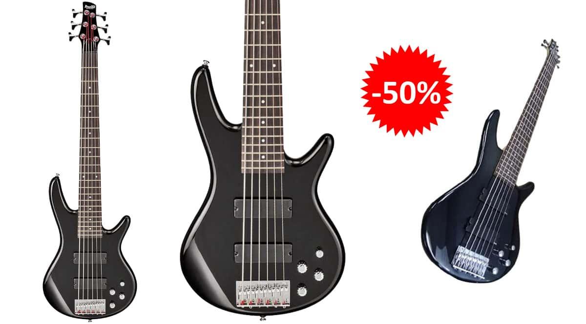 Bajo eléctrico Ibanez GSR206-BK barato, instrumentos musicales baratos, ofertas en instrumentos chollo