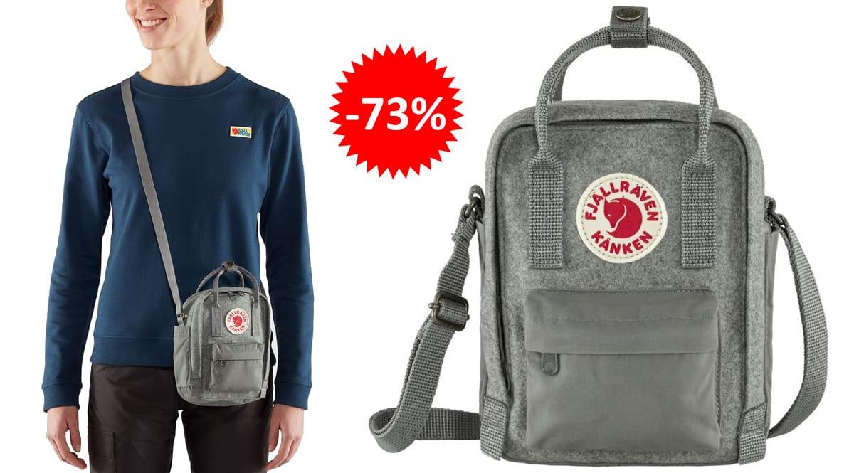Bandolera Fjallraven Kånken Re-wool barata, bolsos de marca baratos, ofertas en mochilas chollo