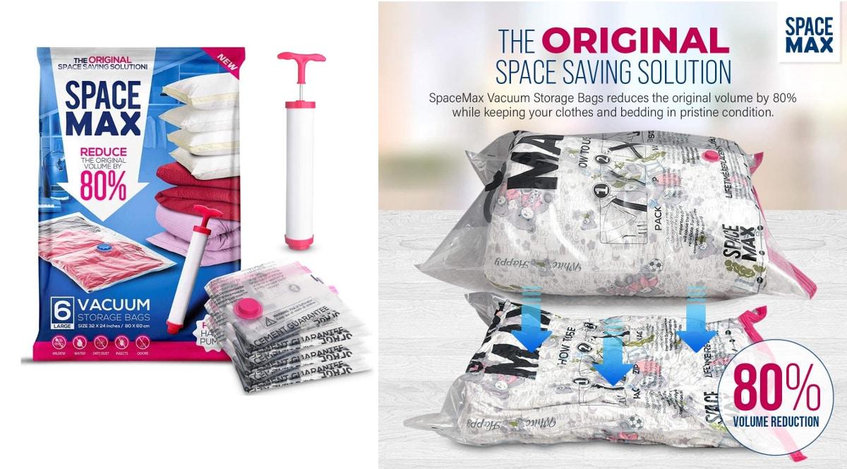 Bolsas de almacenamiento al vacío para ropa SPACE MAX baratas, ofertas ordenación hogar, chollo