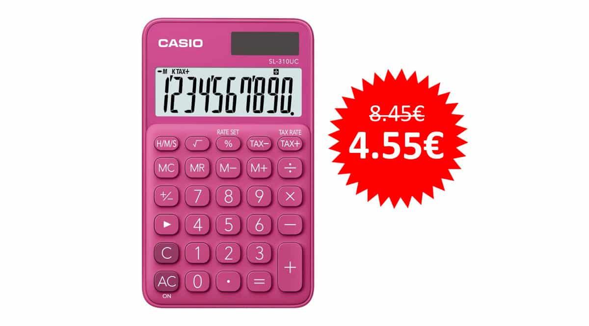 Calculadora Casio SL-310UC-RD barata, calculadoras baratas, ofertas en material escolar chollo